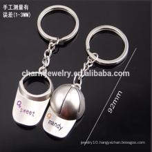 cheap customize baseball cap keychain men and women couple keychain small gift key chain YSK001