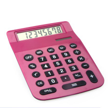 8 Digits A4 Size Jumbo Desktop Calculator with Head Bended