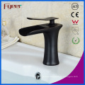 Fyeer New Black Brass Basin Tap Mixer Waterfall Faucet