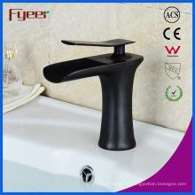 Fyeer New Black Brass bacia torneira misturadora torneira da cachoeira