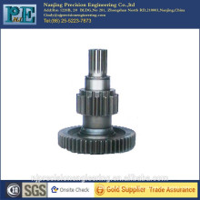 High strength carbon steel machine gear shaft