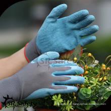 SRSAFETY 13G Голубые латексные рабочие перчатки, Садовые перчатки