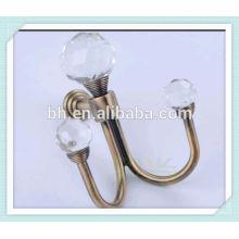 glass crystal curtain tieback hooks