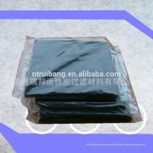 fabricación de malla de filtro de esponja de carbón activado