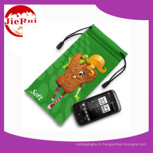 Prix ​​de gros Microfiber Mobile Phone Pouch with Drawstring
