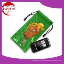 Preço grossista microfibra Mobile Phone Pouch com Drawstring