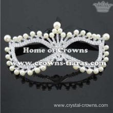 Crystal Masquerade Mask With Pearls