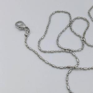 Silver Plated Bead Chain with 7CM Tail Chain