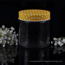 Pot à bougie en verre droit de 24 oz