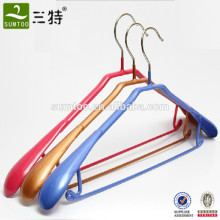 PVC coated metal top hanger with bar