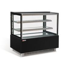 exhibición de la puerta del refrigerador estante de la panadería escaparate de pastel de vidrio