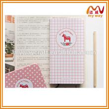 Artigos de papelaria adorável de diário de papel personalizado personalizado e caderno de revistas