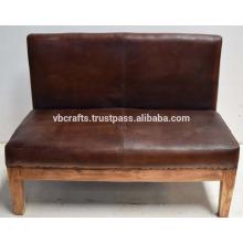 Sofá de couro de couro vintage