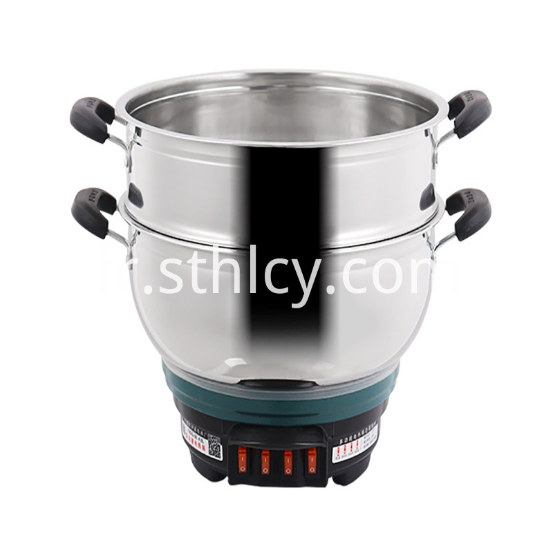 Electric Stainless Steel Pot Detail