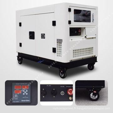 Générateur diesel d'usage domestique de 10 kilowatts, type silencieux et mobile