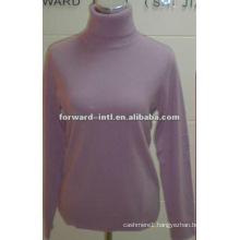 100% cashmere classic style turtle neck pullover