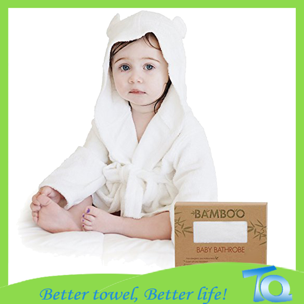 Bamboo Baby Wrap Hooded Towel With Bear Ears