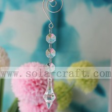 Free sample for for Beaded Prism Trimming,Glass Bead Trim,Crystal Beaded Trim Leading Manufacturers Crystal Clear Prisms For Christmas Chandelier Decoration 16CM supply to Uruguay Importers