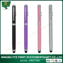 Super 4 in 1 Stylus Touch Pen for Capacitive Screen with Laser Light and Led Flashlight as well as Ball Point Pen