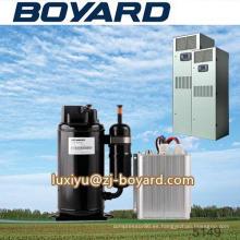 Alta calidad r134a 72V horizontal 10000BTU dc inverter compresor utilizar sistema de vehículo especial