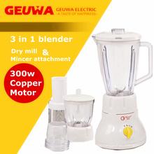 1600ml Capacity Jar with Ingredient Adding Cap 3 in 1 Blender Mixer
