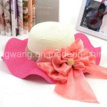 Mode personnalisée Lady Straw Hat, Summer Sports Baseball Cap