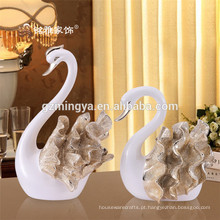 Casamento decoração casamento favor para casa decoração resina de luxo cisne resina animal figurinha