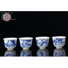 Porcelain Hand Painted Blue and White Design Tea Sets