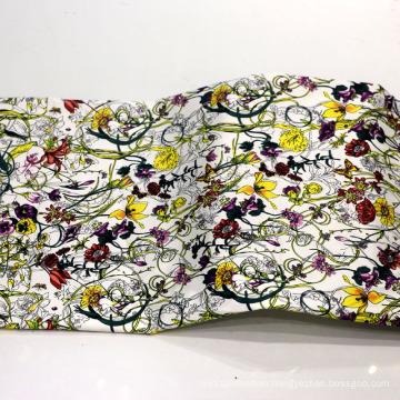 Flower Print Cotton Fabric for Garment