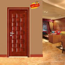 Porta moderna folheado de madeira de carvalho