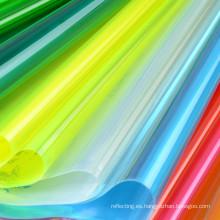 Hoja del PVC colores polipiel Material para bolsas de plástico