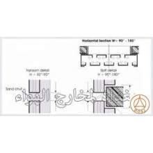 Sand Trap Louvers Frame Door Roll Forming machine UAE