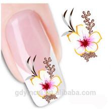 Etiqueta personalizada do tatuagem do henna do prego para a decoração da mão