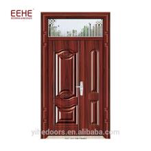 Жилые стальные двойные входные двери с москитной сеткой в Пакистане