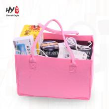 горячие продажи красочные большой емкости мешок войлока кошелек
