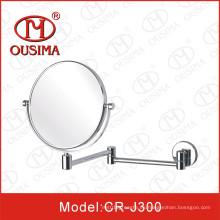 Espejo de maquillaje plegable de forma redonda usado en el baño
