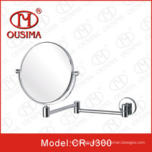 Round Shape Fold Makeup Mirror Used in Bathroom