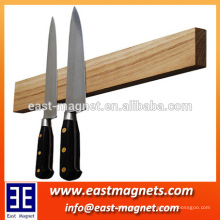 flexible magnetic/ferrite magnet/wooden and bamboo knife holder/bar