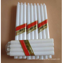 White Wax Taper Candles for Daily Lighting