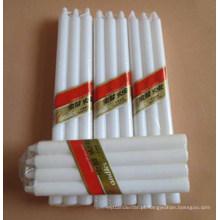 Velas de conicidade de cera branca para iluminação diária