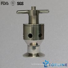 Válvula de muestra sanitaria de acero inoxidable con puntas de sujeción