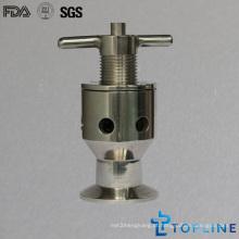 Válvula de amostra de aço inoxidável sanitária com extremidades de grampo