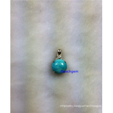 Jewellery-Natural Larimar Sterling Silver Pendant (P5681)