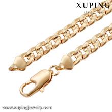 43822 créations de collier en or de chine de la mode en gros dans 45 grammes de bijoux de collier de bijoux plaqué or long et délicat