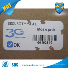 Security Sticker Paper For Printing Tamper Evident Labels,Easy Fragile Destructive Paper Rolls