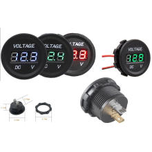 12V-24V Waterproof Car Motorcycle Digital Voltage Meter
