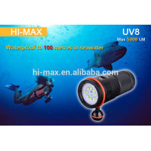 Unique diving video light! UV leds cree multifunction underwater photography light, diving video light