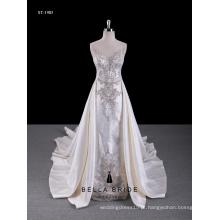 2017 vestido de noiva novo design personalizado vestido de casamento da fábrica de Guangzhou