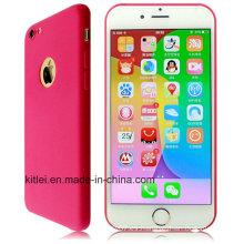 Color rojo del precio barato para el caso del iPhone 6 de TPU