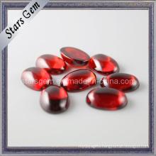 Garnet Color Oval Caboshon Cubic Zirconia Gemstone